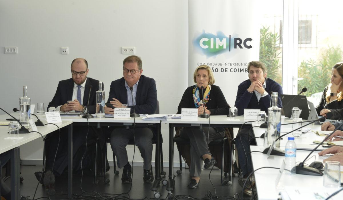 A Secretária de Estado da Justiça, Anabela Pedroso, no Conselho Intermunicipal da CIM Região de Coimbra