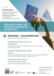 Mecanismos de Financiamento Europeu - Europe Direct Região de Coimbra